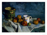 Still Life with Apples, Cup and Pitcher Giclee Print by Paul Cézanne