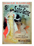 Madame Sans-Gene' in Le Radical, by Edmond Lepelletier Premium Giclee Print by Jules Chéret