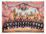 "Advertisement for ""I.W. Bairn's Famous Minstrels"" Giclee Print"