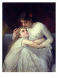 Mother and Child Premium Giclee Print by Emile Munier