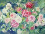 Roses, circa 1885 Giclée-tryk af Pierre-Auguste Renoir