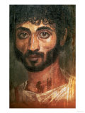 Mummy Portrait of a Man, from Fayum, Romano-Egyptian, 138-161 AD Giclee Print