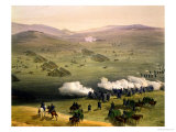 Charge of the Light Cavalry Brigade, October 25th 1854, Detail of Artillery Giclee Print by William Simpson