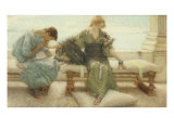 Ask Me No More....For at a Touch I Yield, 1886 Premium Giclee Print by Sir Lawrence Alma-Tadema