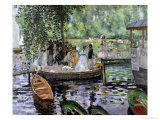 La Grenouillere, 1869 Gicledruk van Pierre-Auguste Renoir