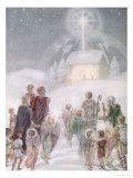 A Christmas Card from a Watercolour Giclee Print by Daphne Allan