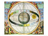 "Map of Christian Constellations, from ""The Celestial Atlas, or the Harmony of the Universe"" Giclee Print by Andreas Cellarius"