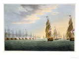 Battle of the Nile, August 1st 1798, for J. Jenkins&#39;s &quot;Naval Achievements&quot; Giclee Print by Thomas Whitcombe