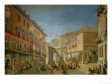 The Arch of Triumph of St. Mary in the Main Street of Madrid Giclee Print by Lorenzo De Quiros