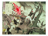 Scene from the Sino-Japanese War in Korea Giclee Print by Kobayachi Kiyochika