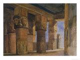 Temple of Denderah, Upper Egypt Giclee Print by William James Muller