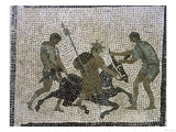 Silenus on a Donkey, Detail from a Mosaic, 1st Century BC Giclee Print