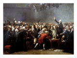 The Tennis Court Oath, 20th June 1789, 1848 Giclee Print by Louis Charles Auguste Couder