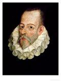 Portrait of Miguel De Cervantes Y Saavedra 1600 Giclee Print by Juan De Jauregui Y Aguilar