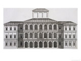 "Palazzo Barberini on the Quirinale, Finished 1630, from ""Palazzi Di Roma,"" Part I, Published 1655 Giclee Print by Pietro Or Falda Ferrerio"