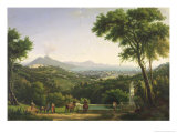 View of Naples from Capodimonte, 1813 Giclee Print by Alexandre Hyacinthe Dunouy