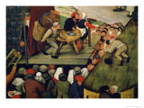 Fair with a Theatrical Performance, 1562 (Detail) Giclee Print by Pieter Brueghel the Younger