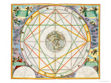 "The Conjunction of the Planets, from ""The Celestial Atlas, or the Harmony of the Universe"" Reproduction procédé giclée par Andreas Cellarius"