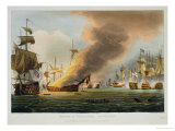 "The Battle of Trafalgar, October 21st 1805, for J. Jenkins's ""Naval Achievements"" Giclee Print by Thomas Whitcombe"