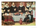 A Family Saying Grace Before the Meal, 1585 Giclee Print by Anthuenis Claeissins Or Claeissens