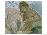 Satyr and Maenad, Detail of a Mosaic from the House of the Faun, 1st Century AD Giclee Print