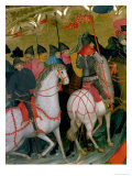 Mounted Soldiers, Detail from the Altarpiece of the Virgin and St. George, circa 1390-1400 Giclee Print by Luis Borrassa