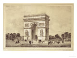 L'Arc De Triomphe, Paris Giclee Print by Jean Jacottet