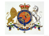Crest of the King of the United Kingdom of Great Britain and Ireland Giclee Print