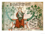 "Richard I, from ""Historia Major,"" circa 1240 Giclee Print by Matthieu Paris"