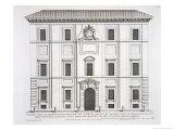 """Palazzo Del Collegio De Propaganda Fide, from """"Palazzi Di Roma,"""" Part II, Published 1670s Giclee Print by Pietro Or Falda Ferrerio"""