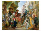 A Street in Cairo Giclee Print by John Frederick Lewis