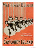 "Poster for ""Mathews & Bulger"" at Gay Coney Island Giclee Print"