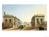 "Edge Hill Station, End of the Tunnel, from ""Liverpool and Manchester Railway"" Giclee Print by S. Kelper"