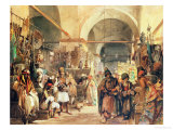 A Turkish Bazaar, 1854 Giclee Print by Amadeo Preziosi