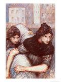 The Laundresses, 1898 Reproduction procédé giclée par Théophile Alexandre Steinlen