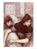 The Laundresses, 1898 Giclee Print by Th&#233;ophile Alexandre Steinlen