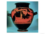 Odysseus and the Sirens, Athenian Red Figure Stamnos Vase by the Siren Painter Reproduction procédé giclée