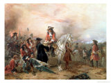 The Duke of Marlborough Signing the Despatch at Blenheim Giclee Print by Robert Alexander Hillingford