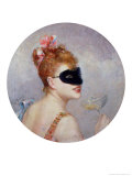 Woman with a Mask Giclee Print by Federico de Madrazo y Kuntz