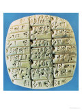 Accounts Table with Cuneiform Script, circa 2400 BC Giclee Print by  Mesopotamian