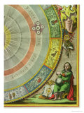 Nicolaus Copernicus, Detail from a Map Showing the Copernican System of Planetary Orbits Gicl&#233;e-Druck von Andreas Cellarius