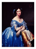 Portrait of the Princesse De Broglie, 1853 Premium Giclee Print by Jean-Auguste-Dominique Ingres
