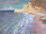 La Plage &#224; Etretat, 1883 Reproduction proc&#233;d&#233; gicl&#233;e par Claude Monet