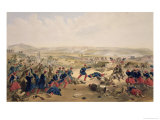 "Battle of the Tchernaya, August 16th 1855, Plate from ""The Seat of War in the East"" Giclee Print by William Simpson"