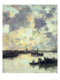 The Port, circa 1895 Giclee Print by Eugène Boudin