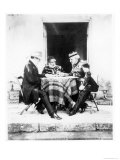 Lord Raglan, Omar Pasha and General Pelissier, Crimea, 1855 Giclee Print by Roger Fenton