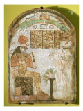 Stela Depicting Tachenes Praying Before the God Re-Horakhty, 900 BC Giclee Print by Third Intermediate Period Egyptian