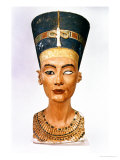 Bust of Queen Nefertiti, Front View, from the Studio of the Sculptor Thutmose at Tell El-Amarna Giclee Print by 18th Dynasty Egyptian