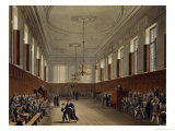 "Eton School Room, from ""History of Eton College"" Giclee Print by Augustus Charles Pugin"