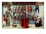 Preparations for a Tournament, 15th Century Giclee Print by Duke Of Anjou & King Of Naples Rene Or Renatus I